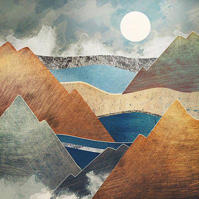 Mountain Digital Art - Mountain Pass by Spacefrog Designs