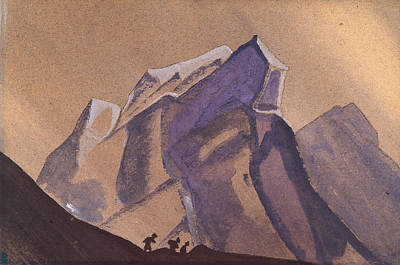 European Painting - Mountain Pass, Storm by Nicholas Roerich