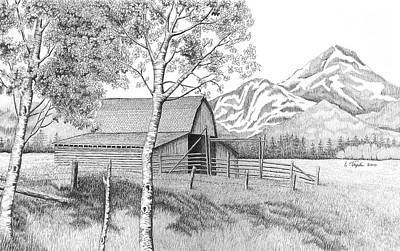 Drawing - Mountain Pastoral by Lawrence Tripoli