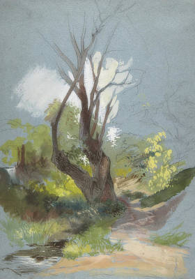 Painting - Mountain Path With A Tree by Friedrich Nerly