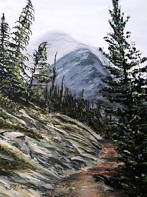 Art Print featuring the painting Mountain Pathway by Patricia L Davidson