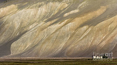 Photograph - Mountain Patterns, Padum, 2006 by Hitendra SINKAR