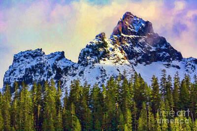 Photograph - Mountain Peak by Jean OKeeffe Macro Abundance Art