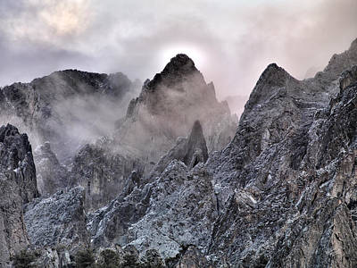 Lost River Mountains Photograph - Mountain Peaks by Leland D Howard