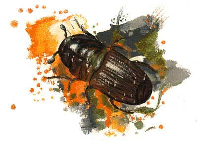 Mountain Pine Beetle Original by Janice Lawrence