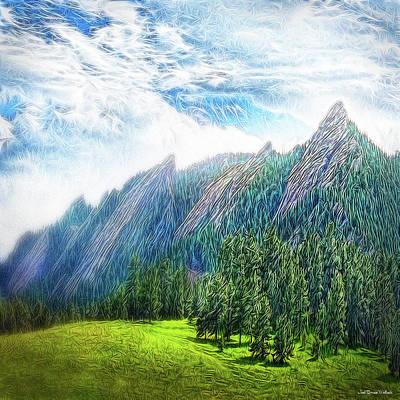 Digital Art - Mountain Pine Meadow by Joel Bruce Wallach