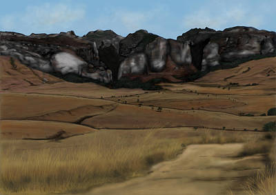 Painting - Mountain Plains by Steven Powers SMP