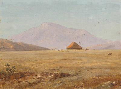 Mountain Plateau With Hut Art Print by Frederic Edwin Church