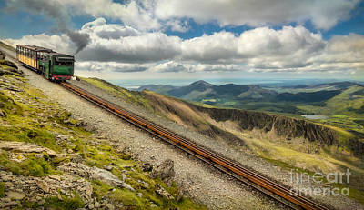 Pinion Photograph - Mountain Railway by Adrian Evans