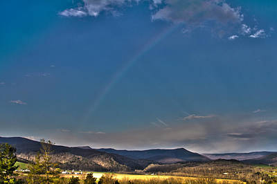 Photograph - Mountain Rainbow by Daniel Houghton