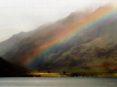 Digital Art - Mountain Rainbow by Joe Bonita