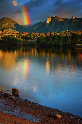 Photograph - Mountain Rainbows by John De Bord