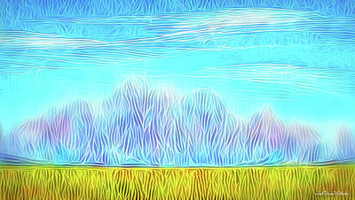 Digital Art - Mountain Range Flow by Joel Bruce Wallach