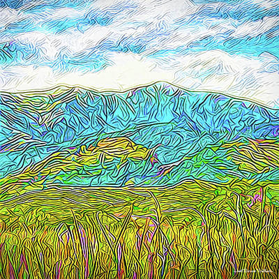 Digital Art - Mountain Range Flowing - Boulder County Colorado by Joel Bruce Wallach