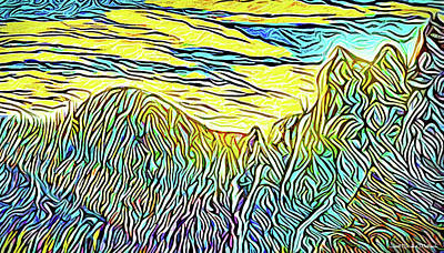 Digital Art - Mountain Range Momentum - Front Range Mountains Colorado by Joel Bruce Wallach
