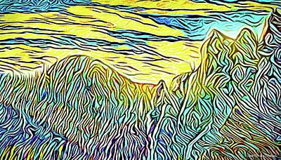 Digital Art - Mountain Range Momentum - Front Range Mountains Colorado by Joel Bruce Wallach