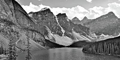 Photograph - Mountain Range Monochrome by Frozen in Time Fine Art Photography