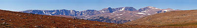 Beartooth Mountain Range Photograph - Mountain Range On A Landscape by Panoramic Images