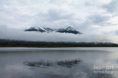 Photograph - Mountain Reflection On Vermillion Lakes by Nina Silver