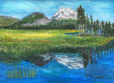 Painting - Mountain Reflections by Anne Sands