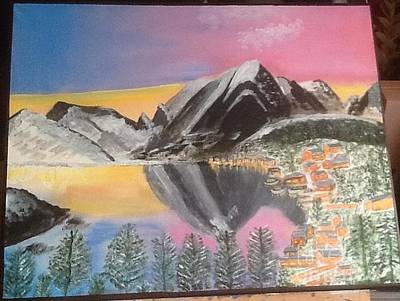 Painting - Mountain Reflections by Audrey Pollitt