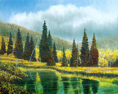 Painting - Mountain Reflections by Douglas Castleman