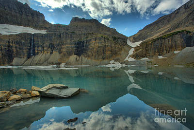Photograph - Mountain Reflections In Grinnell Ponds by Adam Jewell