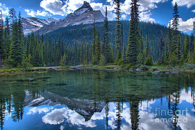 Photograph - Mountain Reflections In Yoho Lake by Adam Jewell