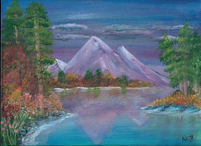 Mountain Reflections  Original by Jeannette Goff