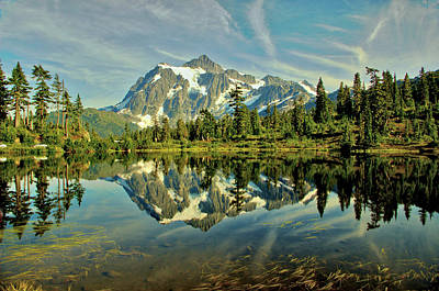 Mountain Reflections Art Print by Marv Russell