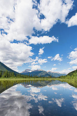 Photograph - Mountain Reflector - Vertical by Michael Blanchette