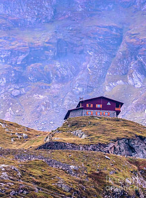 Photograph - Mountain Rescue Refuge At Balea Lake by Claudia M Photography