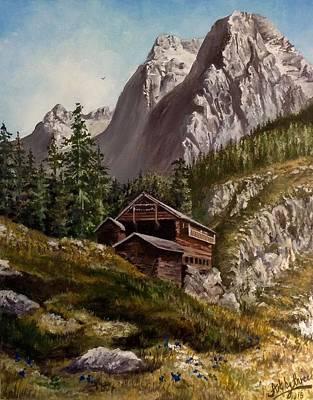 Painting - Mountain Retreat by Art By Three Sarah Rebekah Rachel White
