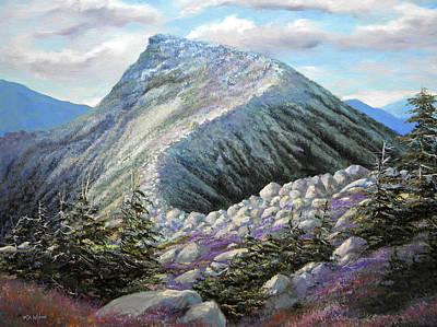 Franconia Notch Painting - Mountain Ridge by Frank Wilson