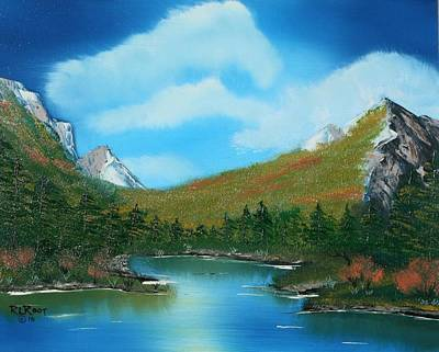 Painting - Mountain Ridge Lake by Ralph Root