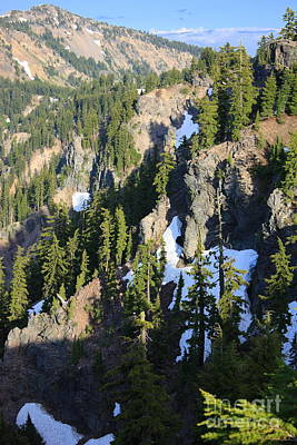Photograph - Mountain Ridges Around Crater Lake by Carol Groenen