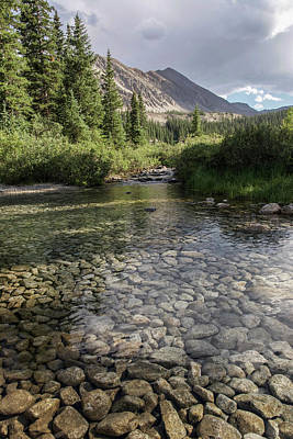 Photograph - Mountain River by Aaron Spong