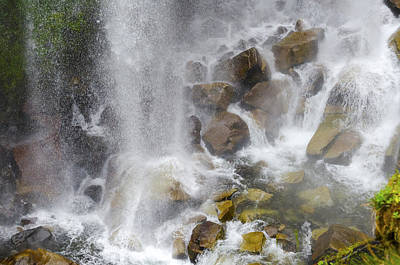 Photograph - Mountain River Falling On Rocks by Lynn Hansen