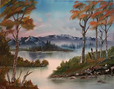 Mountain River Art Print by Larry Hamilton