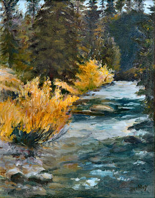 Mountain River Art Print by Rita Bentley