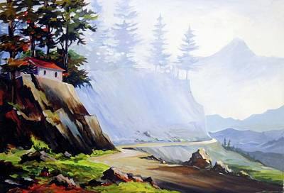 Painting - Mountain Road - Acrylic On Canvas Painting by Samiran Sarkar
