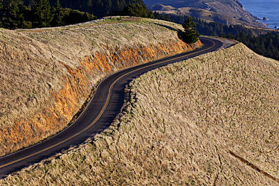 Curving Road Photograph - Mountain Road by Garry Gay