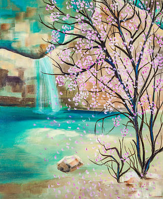 Painting - Mountain Rock Pools by Jenny anne Morrison