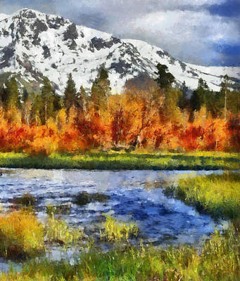 Autumn Painting - Mountain by Russ Harris