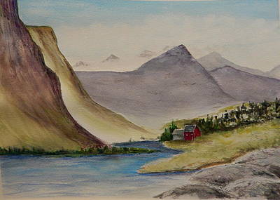 Painting - Mountain Scene by Betty-Anne McDonald