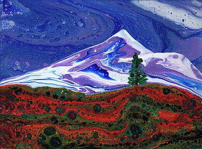 Painting - Mountain Scene by Catherine G McElroy