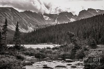 Digital Art - Mountain Scenery B And W by Steven Parker