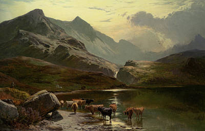 Percy Painting - Mountain Scenery by Richard Percy