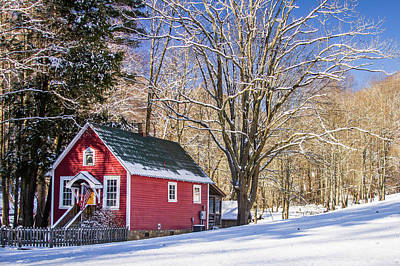 Maggie Valley Photograph - Mountain Schoolhouse by Blue Ridge Mountain Life