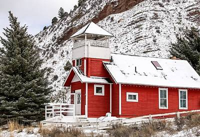 Little Red School House Photograph - Mountain Schoolhouse  by LeAnne Perry